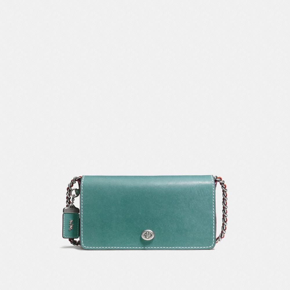 DINKY IN GLOVETANNED LEATHER WITH COLORBLOCK SNAKE