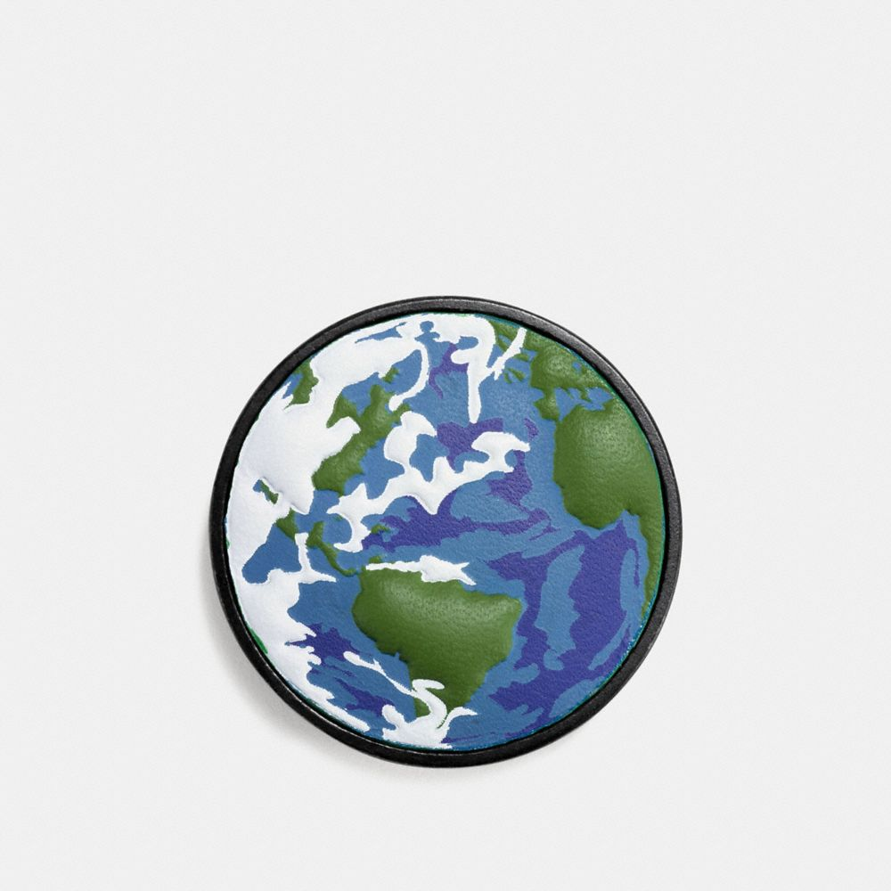 PLANET EARTH LEATHER PIN