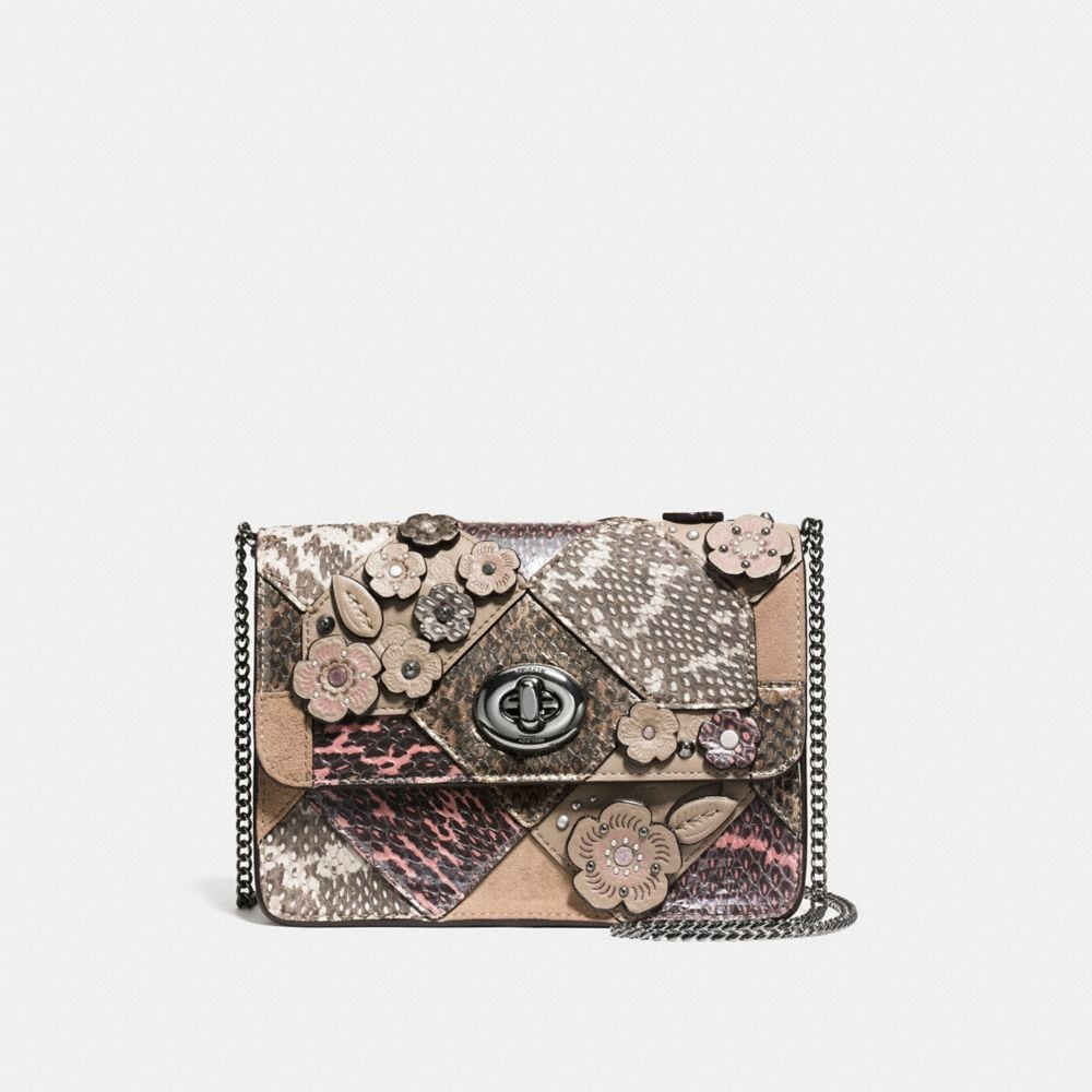 BOWERY CROSSBODY IN PATCHWORK SNAKE