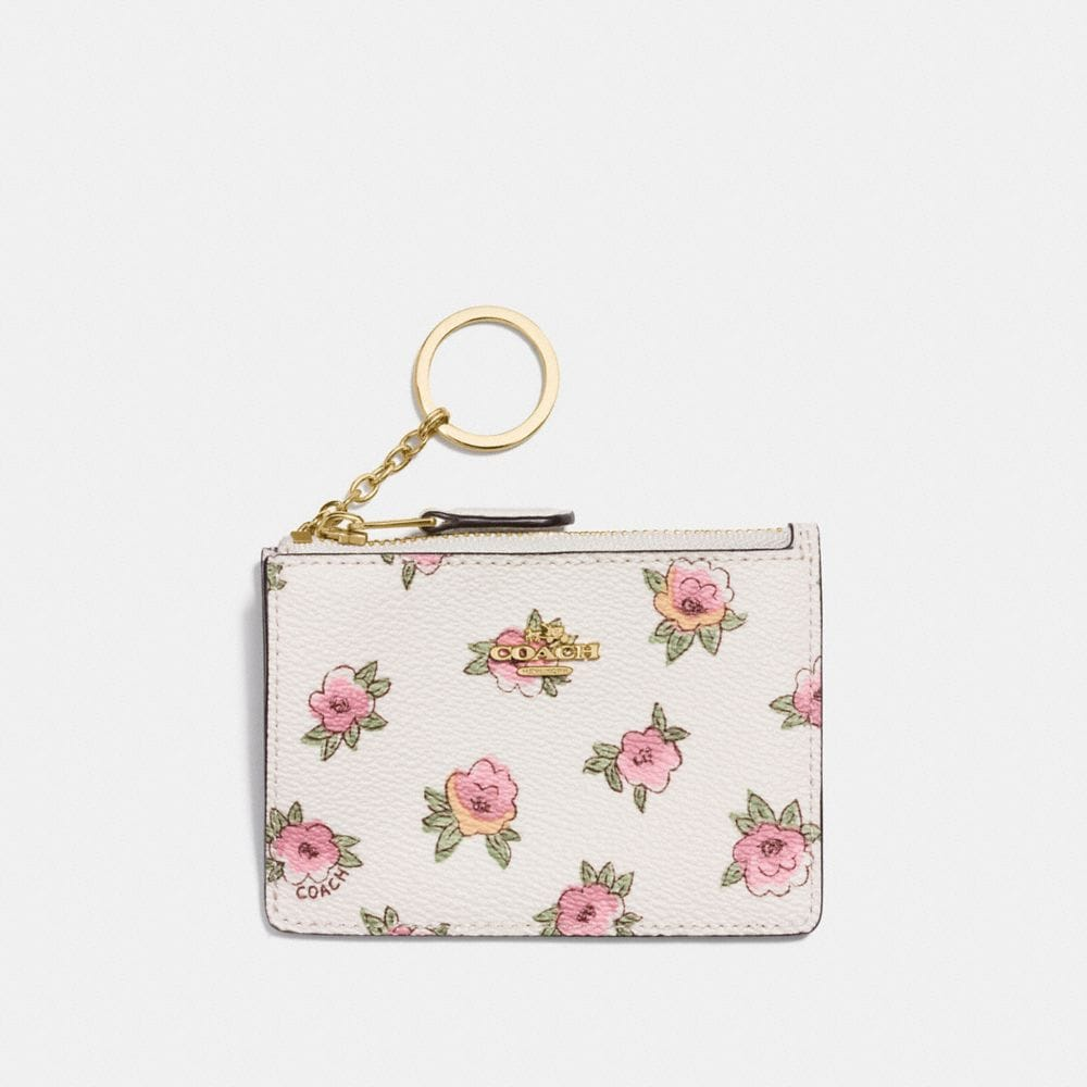 MINI SKINNY ID CASE IN FLOWER PATCH PRINT COATED CANVAS