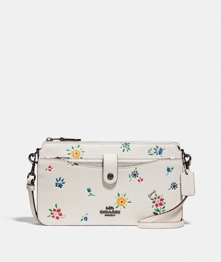 NOA POP-UP MESSENGER WITH WILDFLOWER PRINT