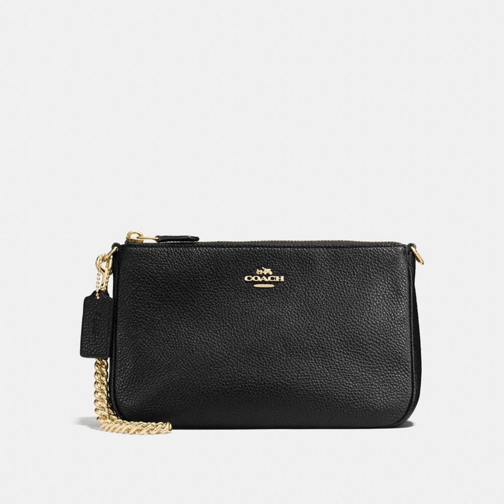 NOLITA WRISTLET 22 IN POLISHED PEBBLE LEATHER