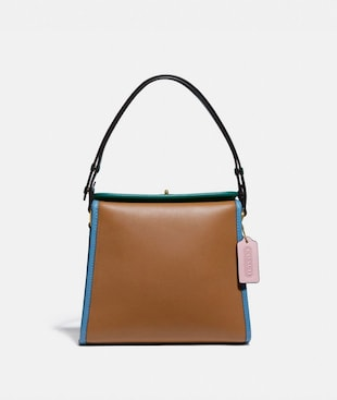 TURNLOCK SHOULDER BAG IN COLORBLOCK