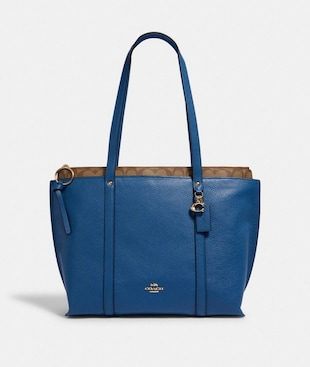 MAY TOTE WITH SIGNATURE CANVAS DETAIL