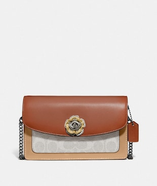 PARKER CROSSBODY IN COLORBLOCK SIGNATURE CANVAS