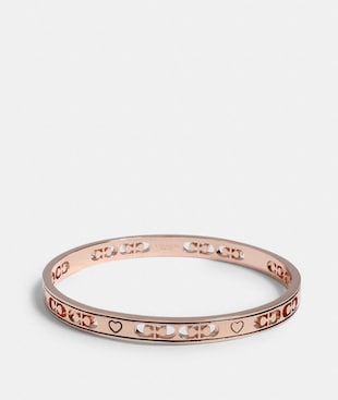 SIGNATURE HEART BANGLE