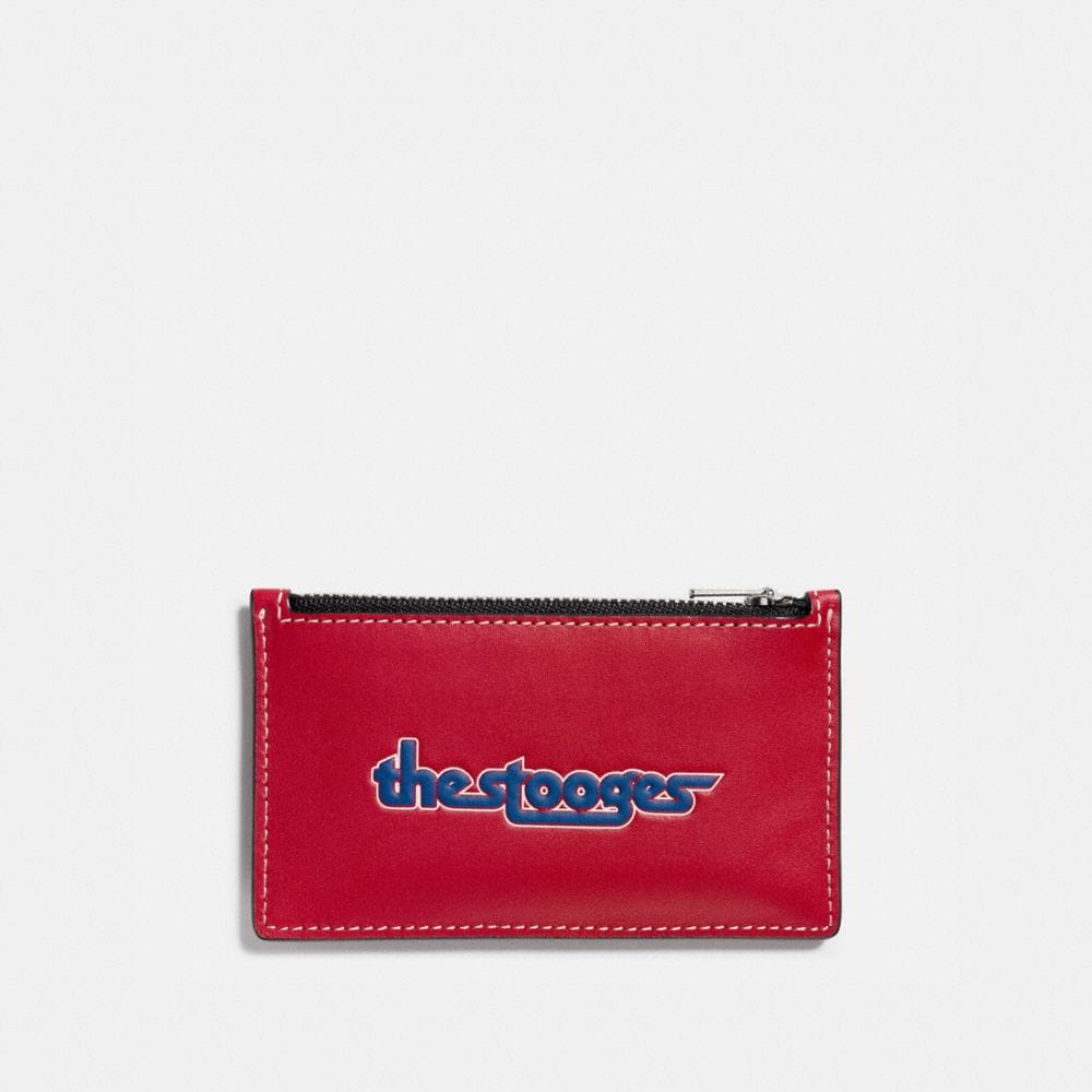 ZIP CARD CASE IN GLOVETANNED LEATHER WITH THE STOOGES