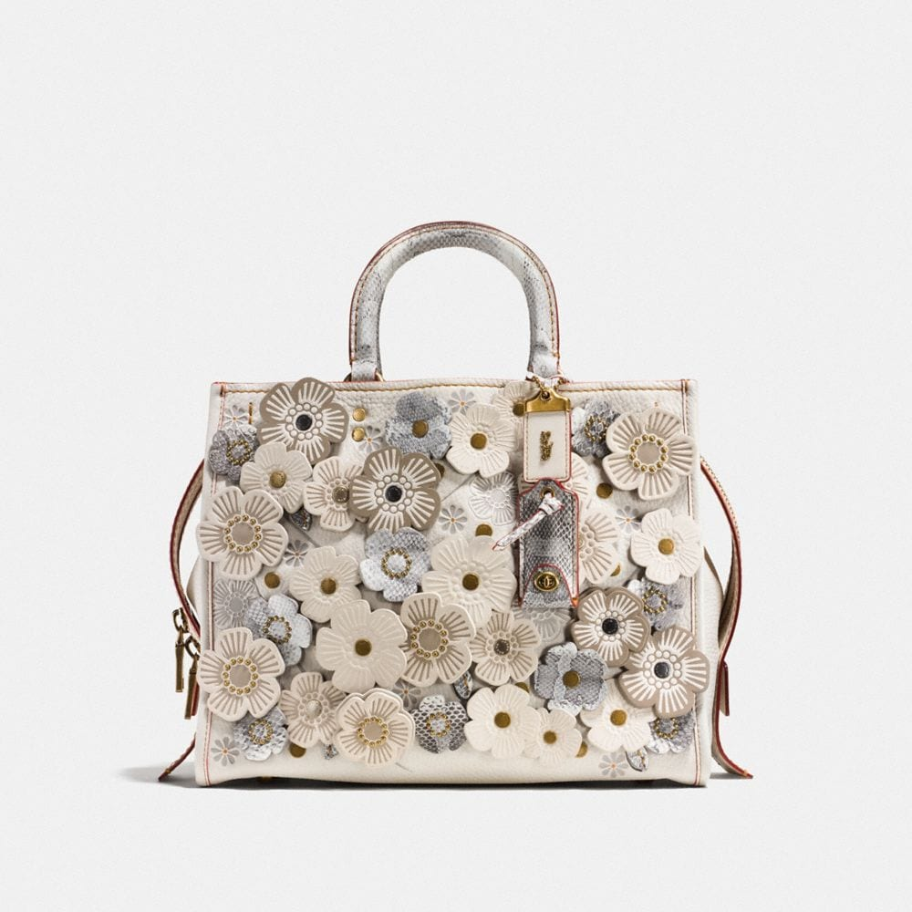 ROGUE IN NATURAL PEBBLE LEATHER WITH EXOTIC TEA ROSE