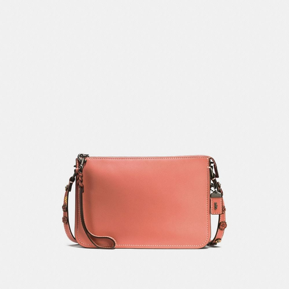 SOHO CROSSBODY IN GLOVETANNED LEATHER WITH TEA ROSE DETAIL