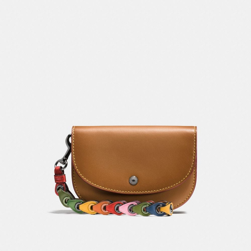 DOUBLE POUCH WITH COACH LINK STRAP
