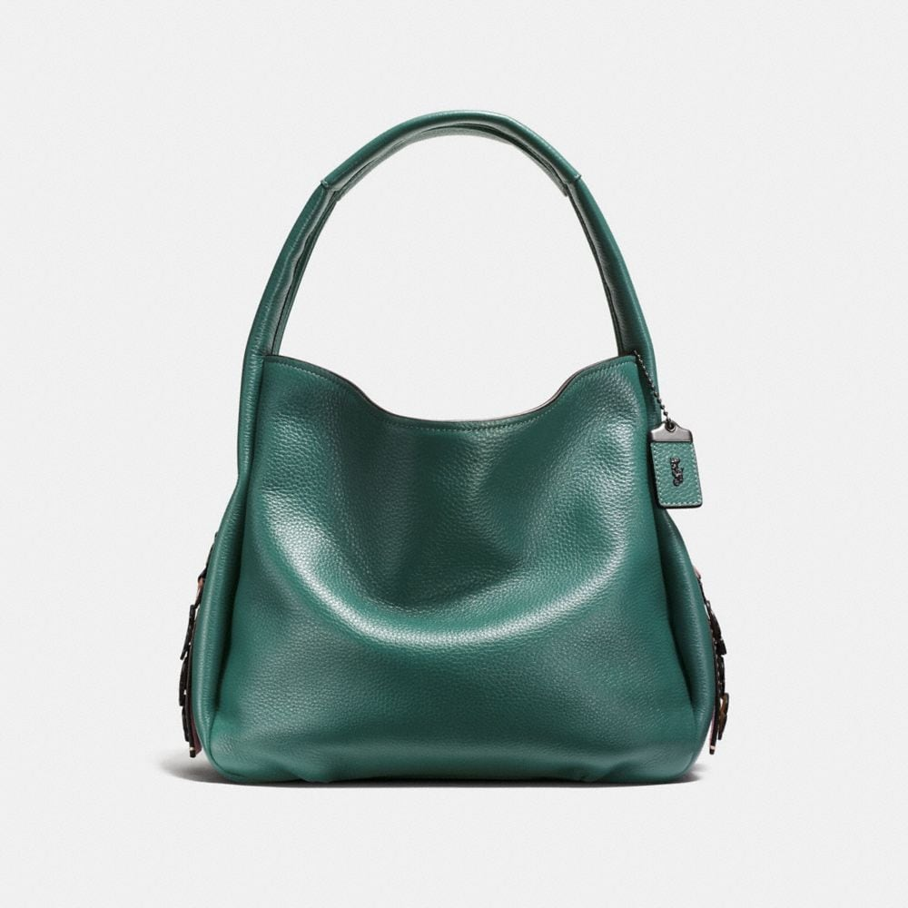 BANDIT HOBO IN GLOVETANNED LEATHER WITH TEA ROSE DETAIL