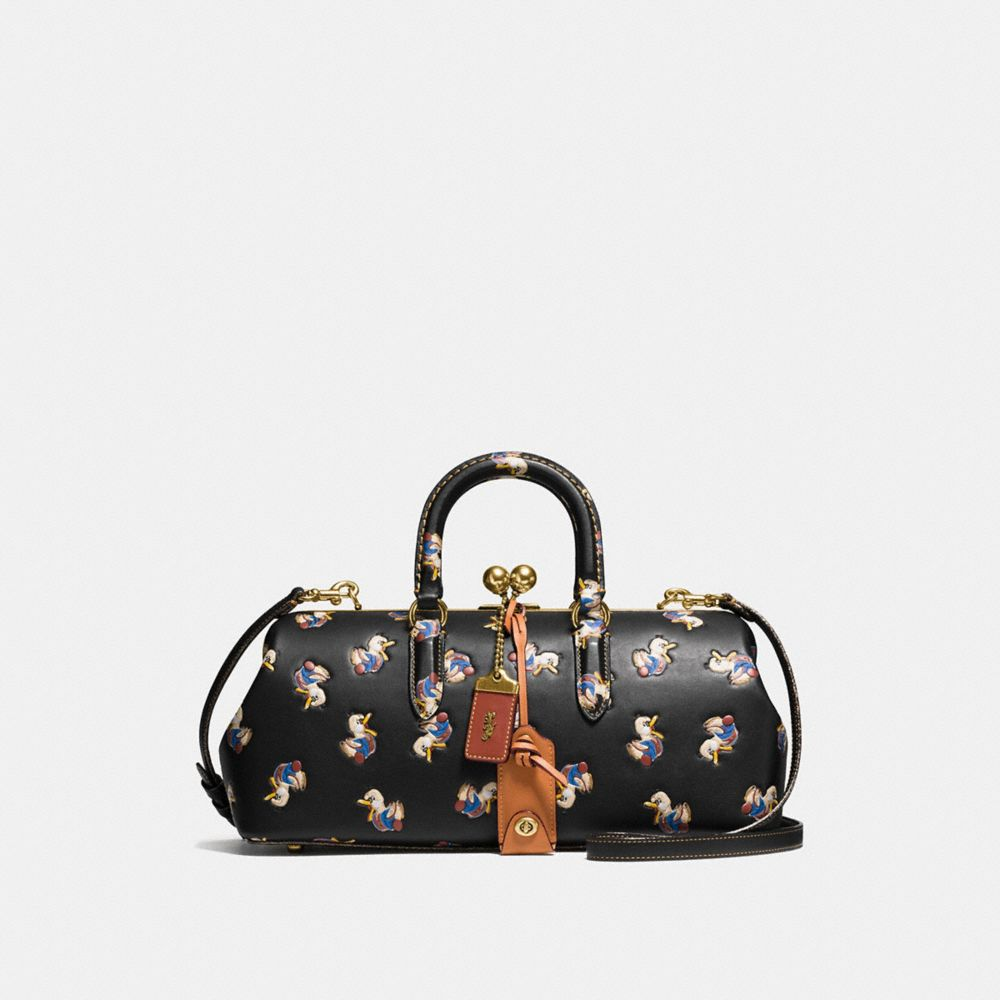 KISSLOCK SATCHEL 38 WITH DUCK PRINT