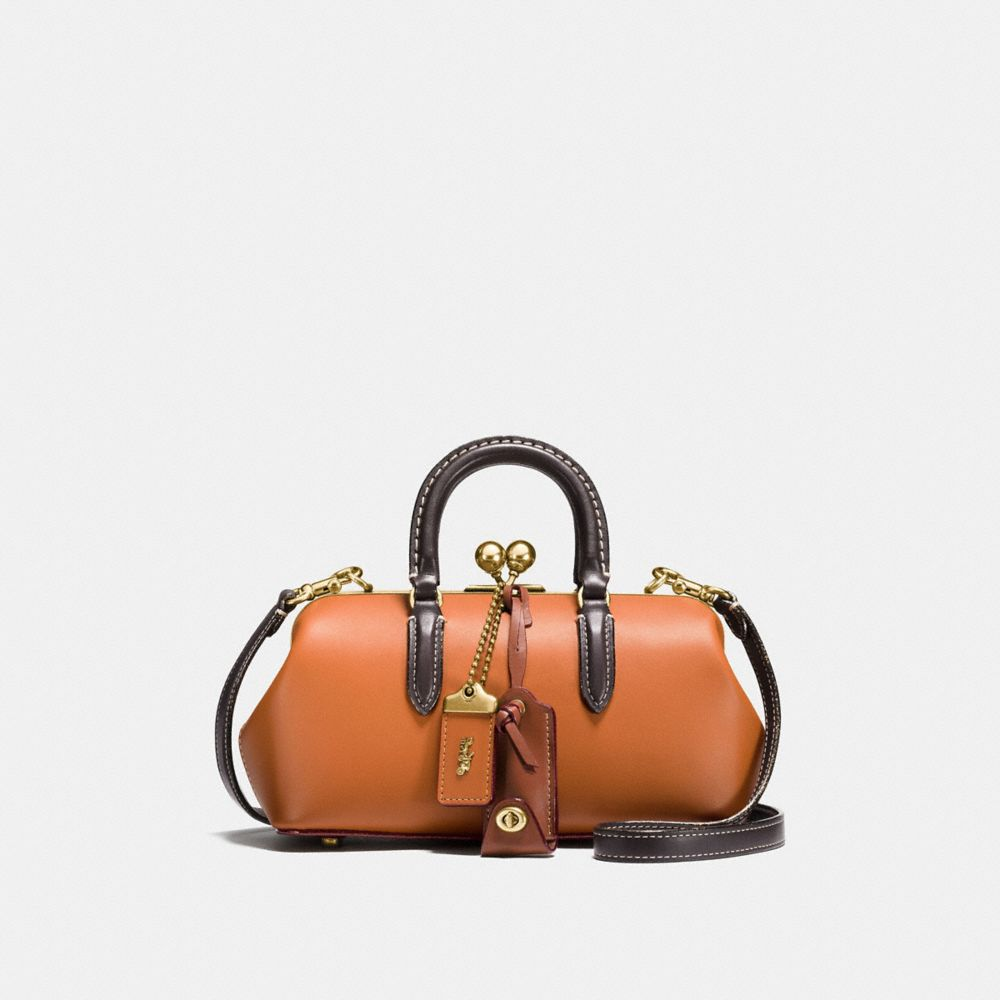KISSLOCK SATCHEL IN COLORBLOCK LEATHER