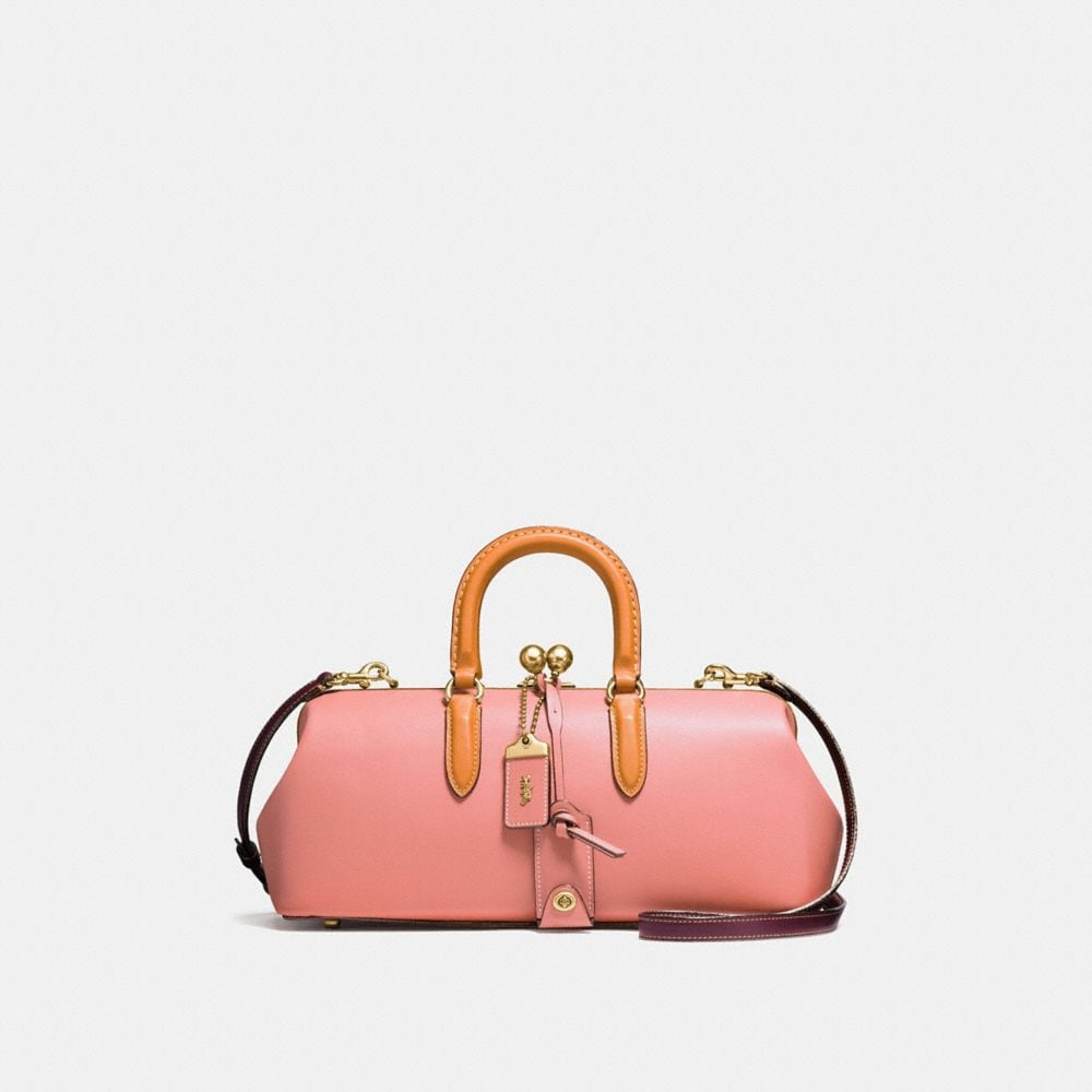 KISSLOCK SATCHEL 38 IN COLORBLOCK LEATHER