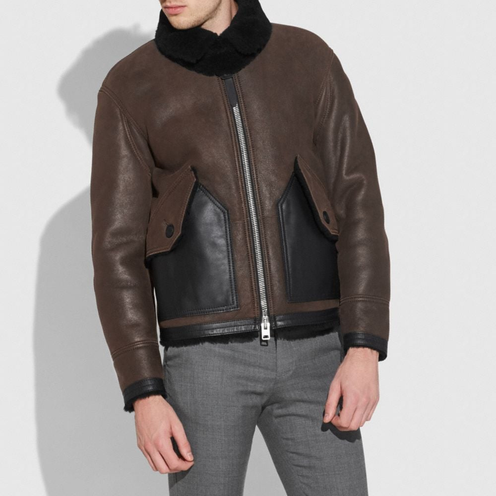 GIACCA BOMBER B3 IN SHEARLING