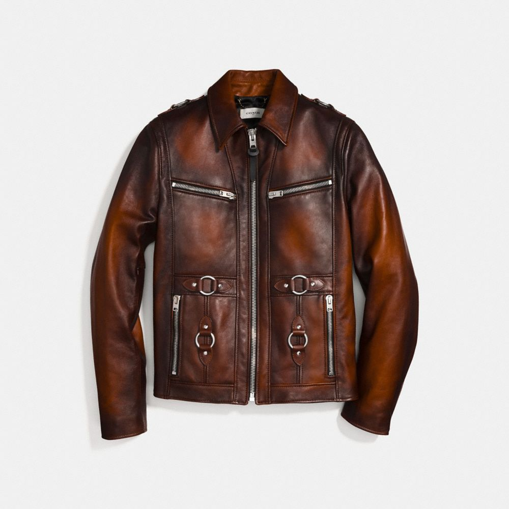 BURNISHED LEATHER SHERIFF JACKET