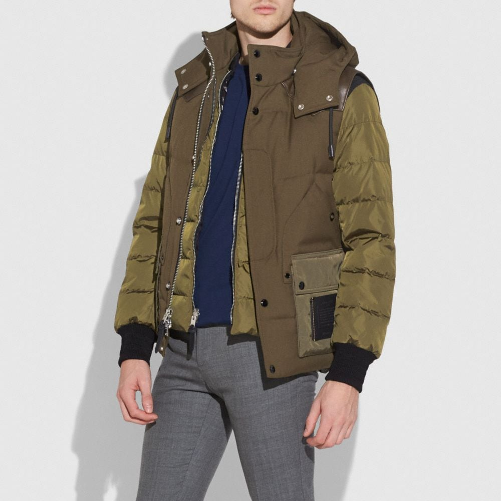 DOWN JACKET WITH REMOVABLE VEST
