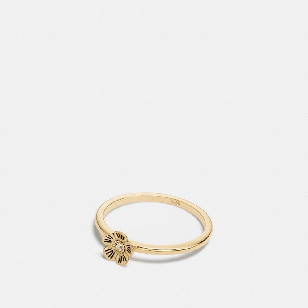 MINI 18K GOLD PLATED WILLOW FLORAL RING
