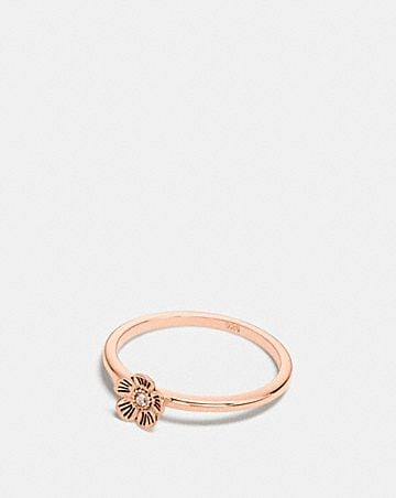 MINI-TEA ROSE-RING MIT 18-KARAT-GOLDLEGIERUNG