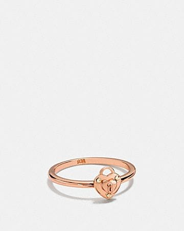 MINI DEMI-FINE PADLOCK HEART RING