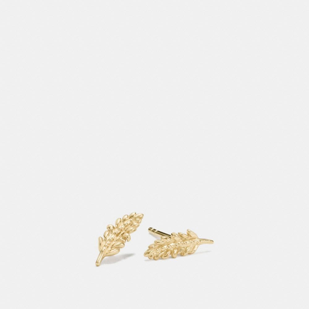 MINI DEMI-FINE FEATHER STUD EARRINGS