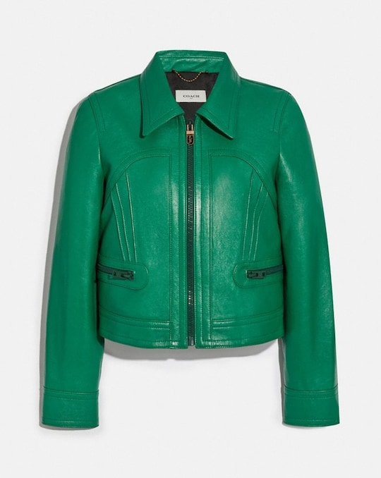 CROPPED LEATHER BLOUSON
