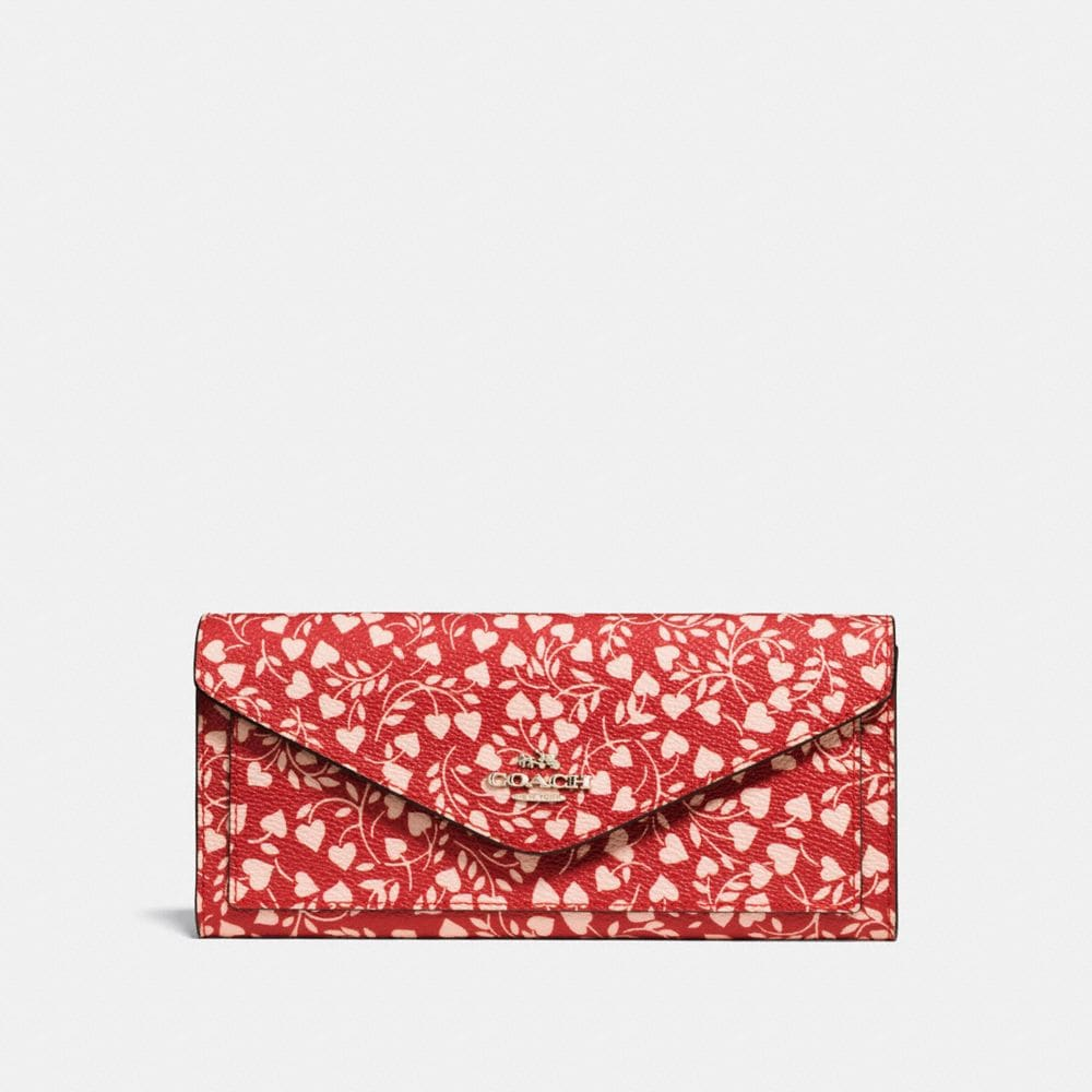 SOFT WALLET WITH LOVE LEAF PRINT