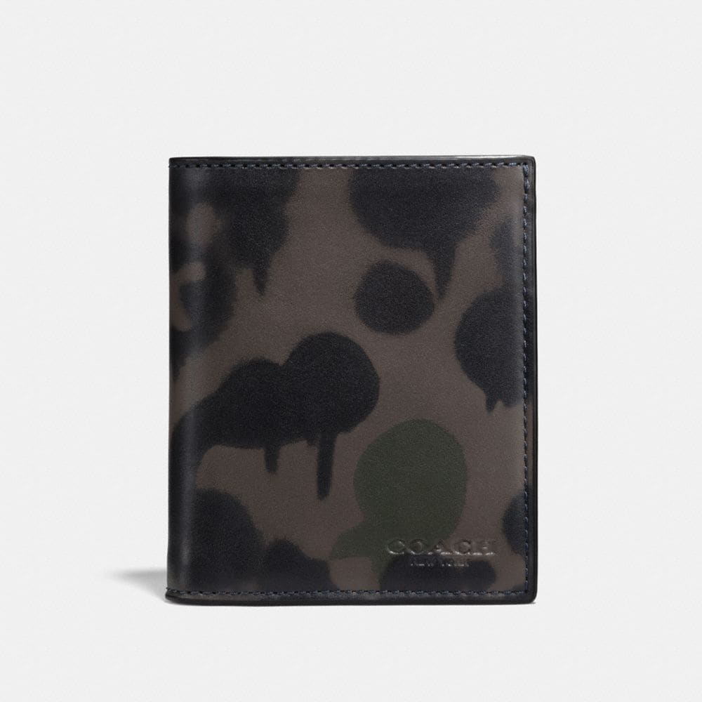 SLIM COIN WALLET WITH WILD BEAST PRINT