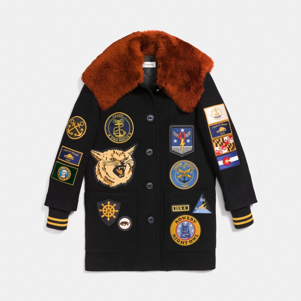 MILITARY PATCH WORKER JACKET