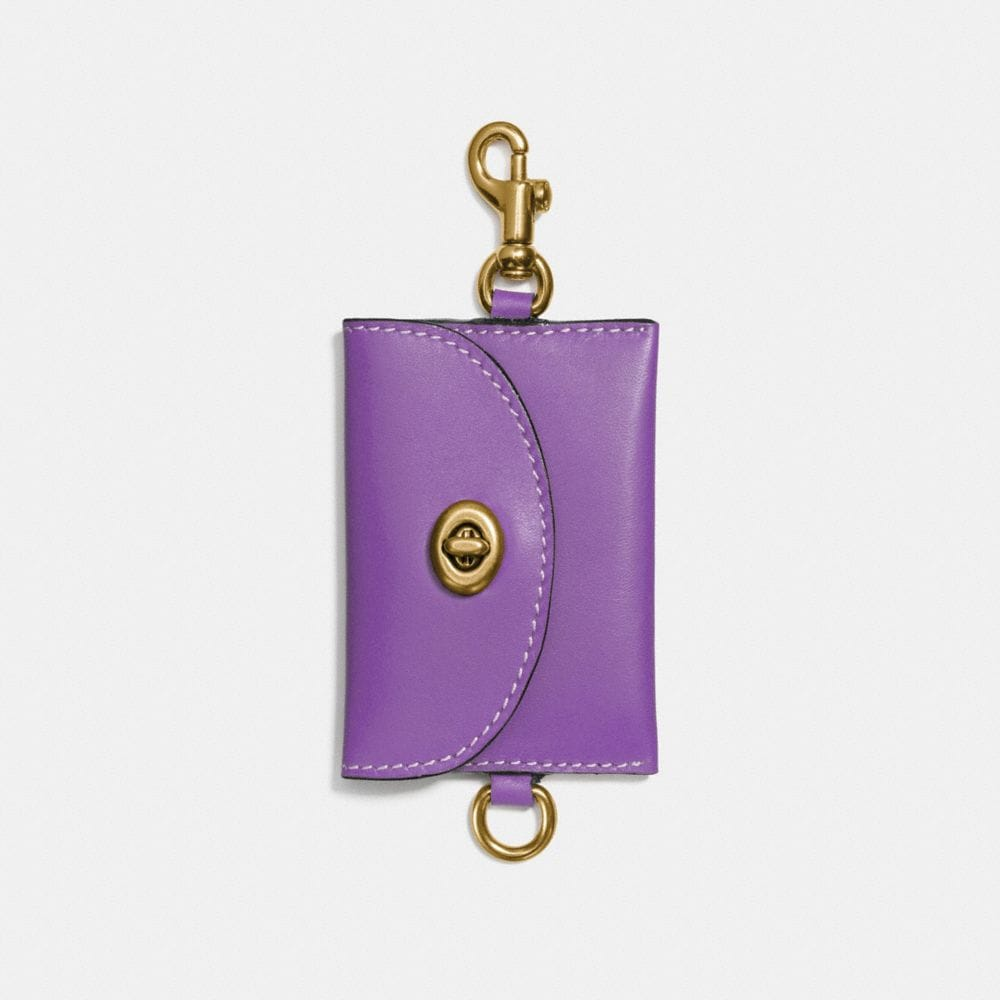 TURNLOCK CARD POUCH IN GLOVETANNED LEATHER