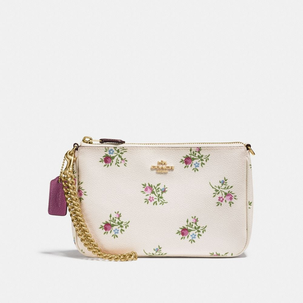 NOLITA WRISTLET 22 WITH CROSS STITCH FLORAL PRINT