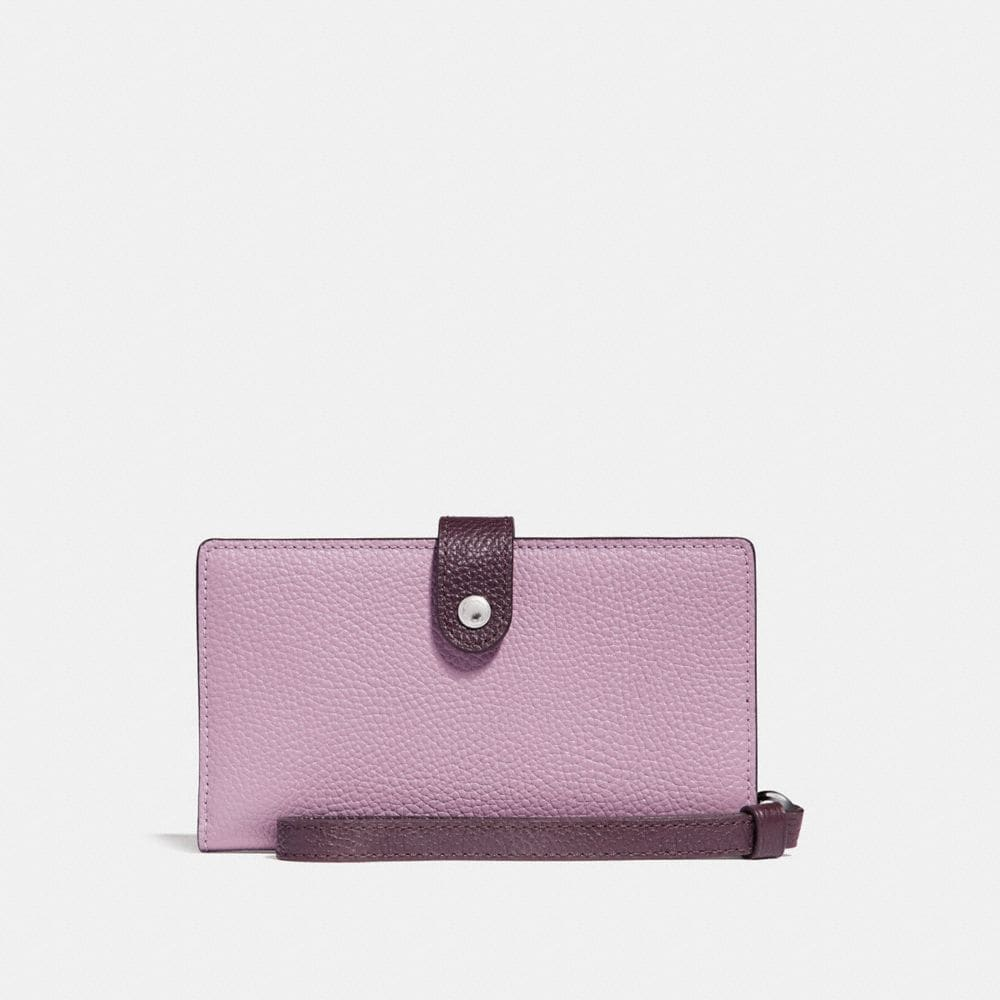 PHONE WRISTLET IN COLORBLOCK