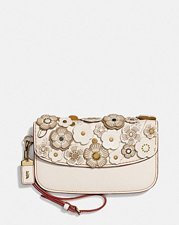 CLUTCH WITH SMALL TEA ROSE