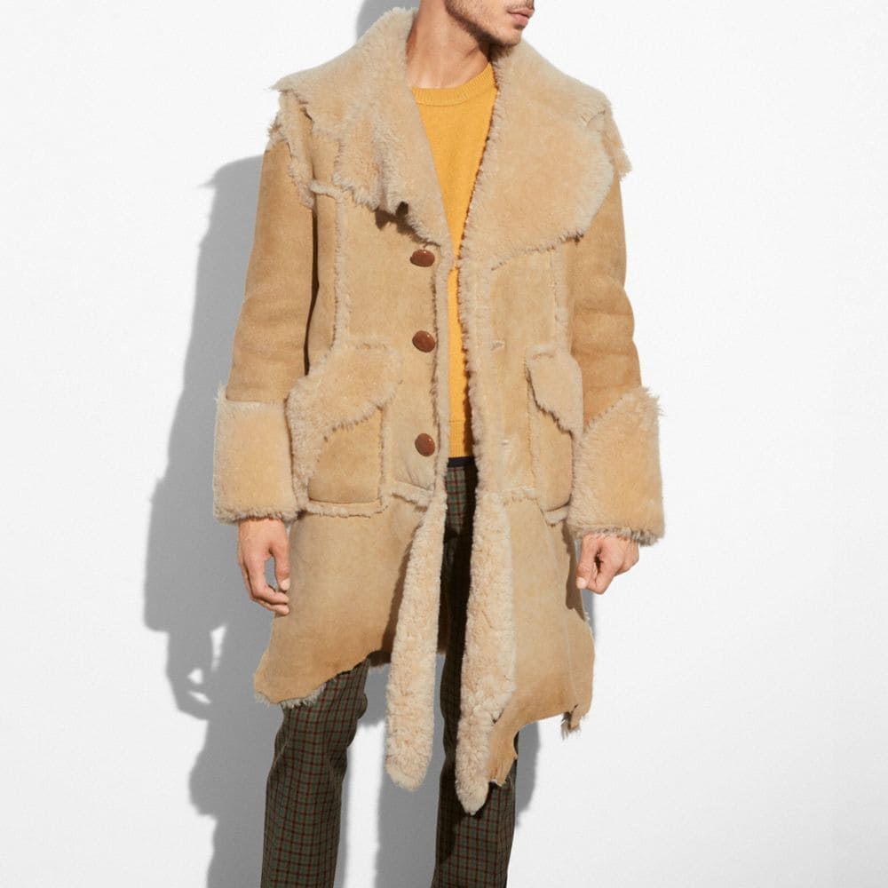 RAGEDY SHEARLING COAT