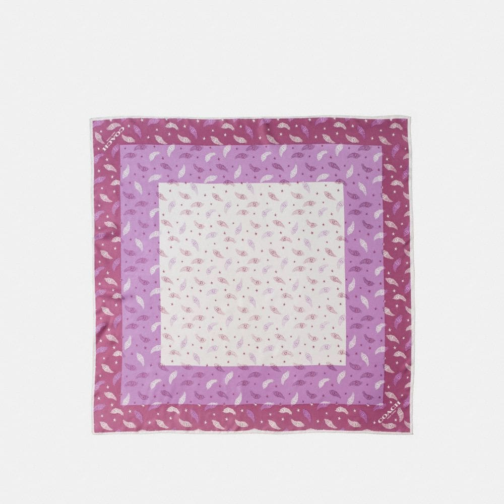 HEART FEATHER SILK TWILL SQUARE