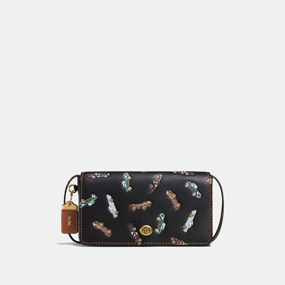 DINKY IN GLOVETANNED LEATHER WITH CAR PRINT