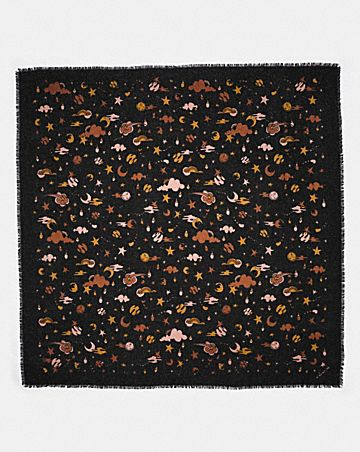 OUTERSPACE PRINT OVERSIZED SQUARE