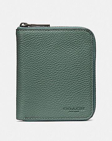 Mens card cases coach small zip around wallet colourmoves
