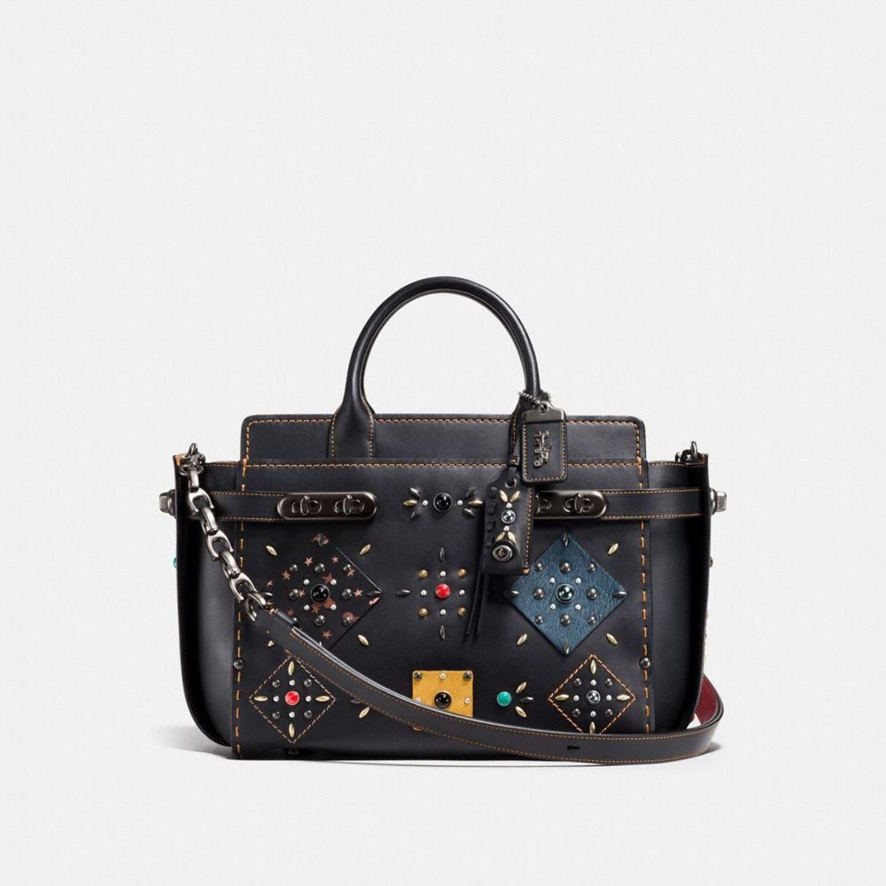 BOLSO DOBLE SWAGGER CON PATCHWORK Y REMACHES PRAIRIE