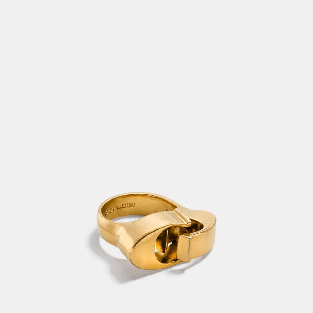 OVERSIZED SIGNATURE CHAIN LINK RING