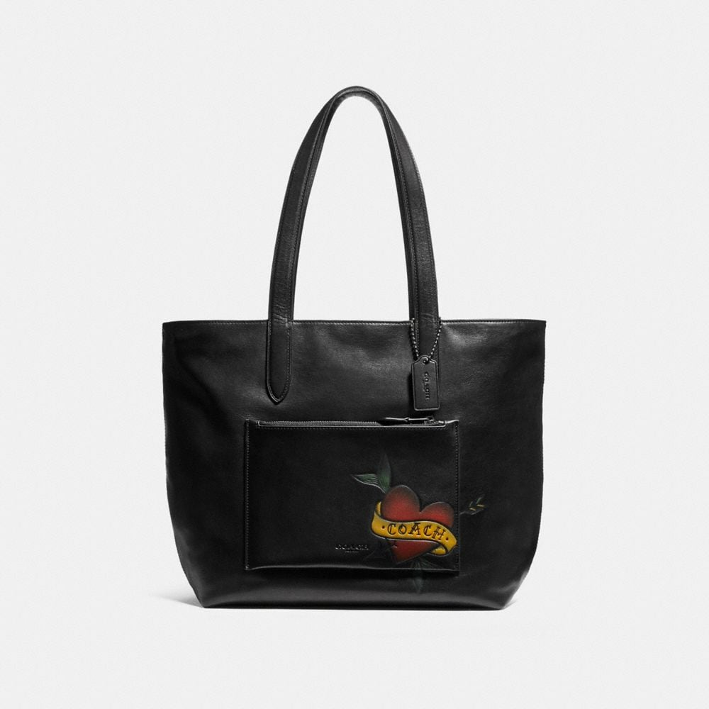 METROPOLITAN SOFT TOTE WITH TATTOO TOOLING