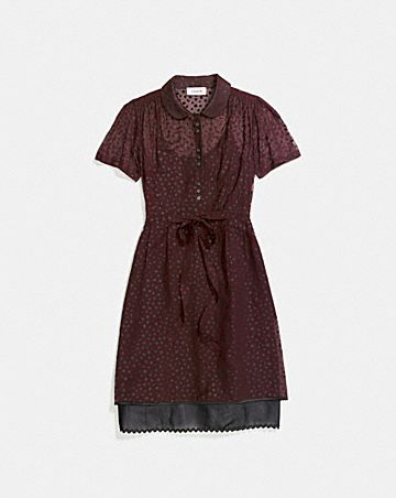 STAR PRINT SHIRT DRESS