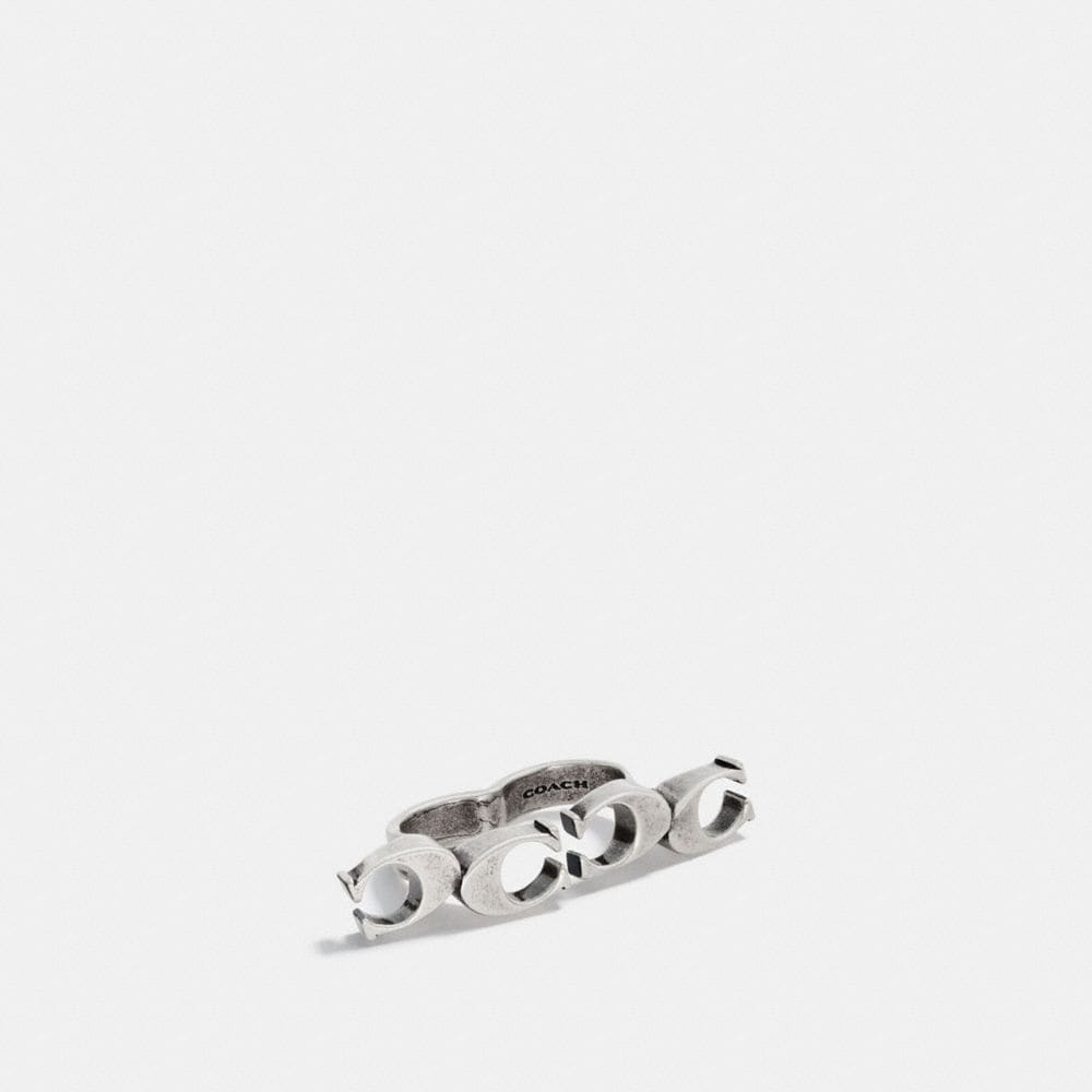 SIGNATURE CHAIN LINK KNUCKLE RING