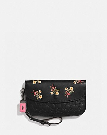 CLUTCH WITH FLORAL BOW PRINT ... e96dc92cb2ac8