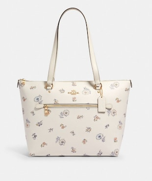 GALLERY TOTE WITH DANDELION FLORAL PRINT
