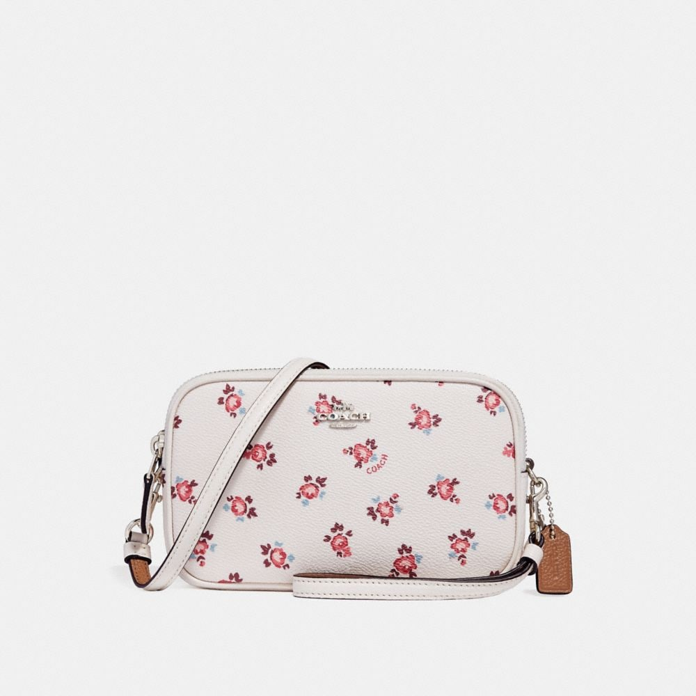 CROSSBODY CLUTCH WITH FLORAL BLOOM PRINT