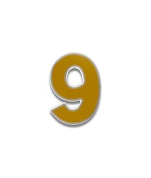 Number 9 Souvenir Pin