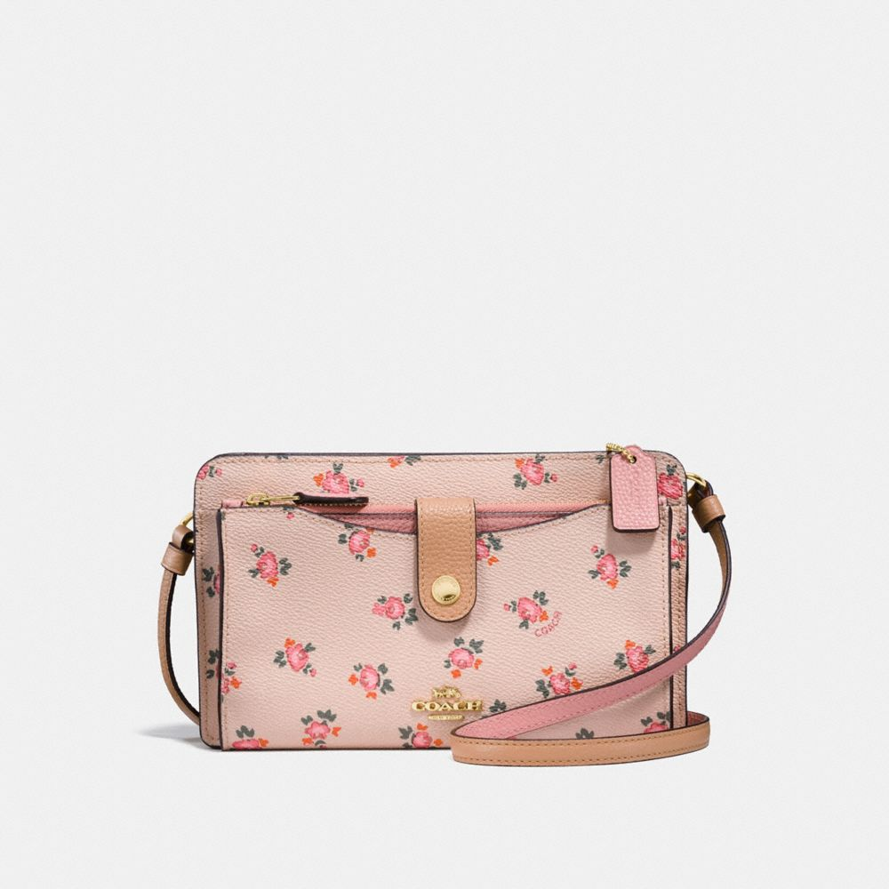 BOLSO POP-UP MESSENGER CON ESTAMPADO FLORAL BLOOM