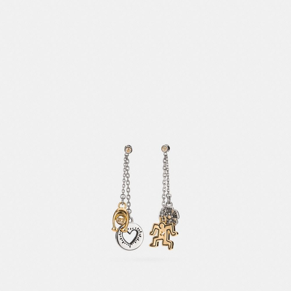 COACH X KEITH HARING CHARM DROP EARRING