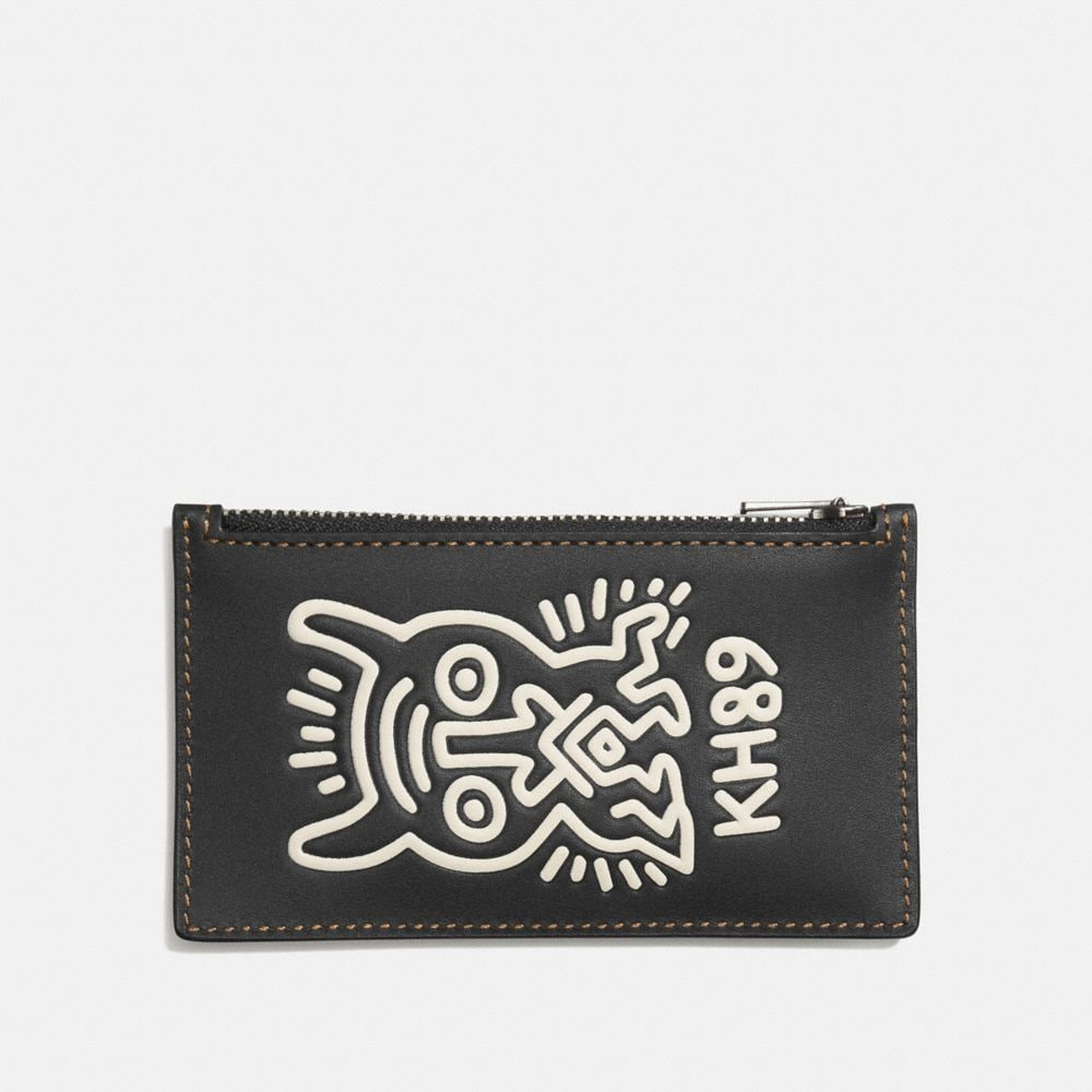 COACH X KEITH HARING ZIP CARD CASE